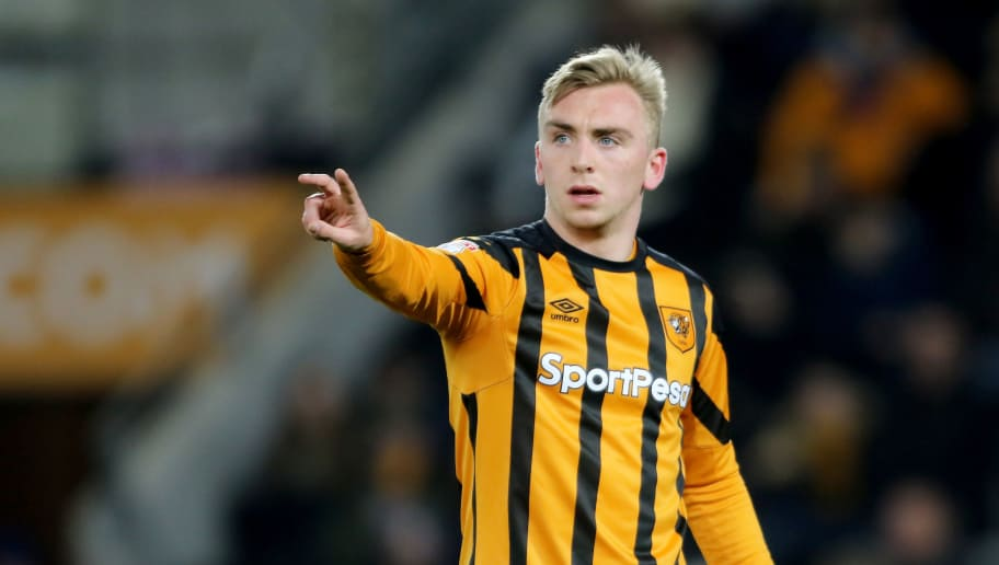 HULL, ENGLAND- FEBRUARY 23 : Hull City's Jarrod Bowen during the Sky Bet Championship  match between Hull City and Sheffield United at KCOM on February 23, 2018 in Hull, England. (Photo by Richard Sellers/Getty Images)