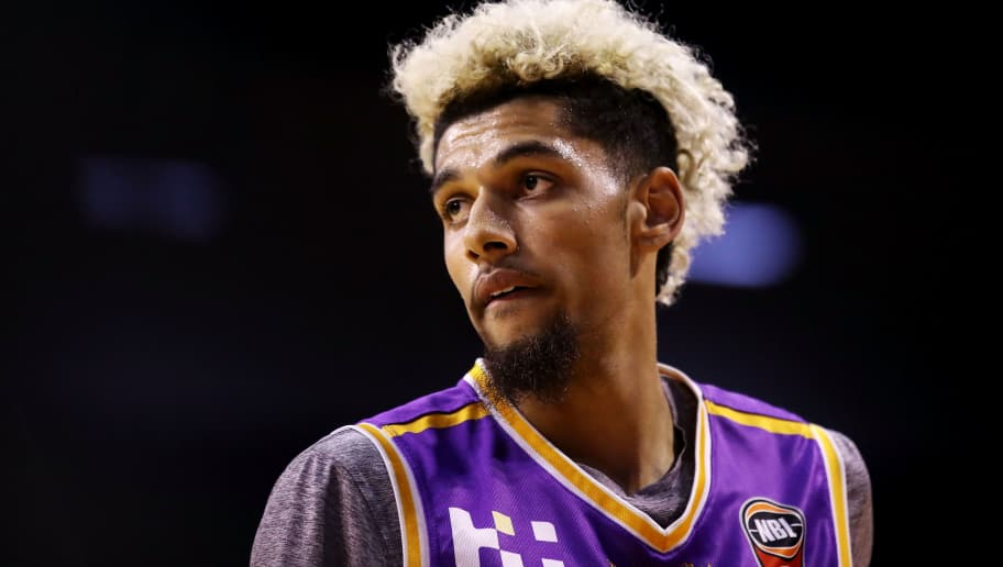 WOLLONGONG, AUSTRALIA - SEPTEMBER 16: Brian Bowen watches on during the NBL pre-season match between the Illawarra Hawks and the Sydney Kings at WIN Entertainment Centre on September 16, 2018 in Wollongong, Australia. (Photo by Mark Kolbe/Getty Images)