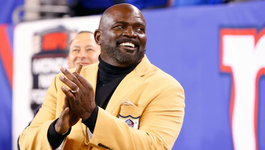 EAST RUTHERFORD, NJ - NOVEMBER 03:  (NEW YORK DAILIES OUT)   Hall of Famer Lawrence Taylor attends a game between the New York Giants and the Indianapolis Colts on November 3, 2014 at MetLife Stadium in East Rutherford, New Jersey. The Colts defeated the Giants 40-24.  (Photo by Jim McIsaac/Getty Images)