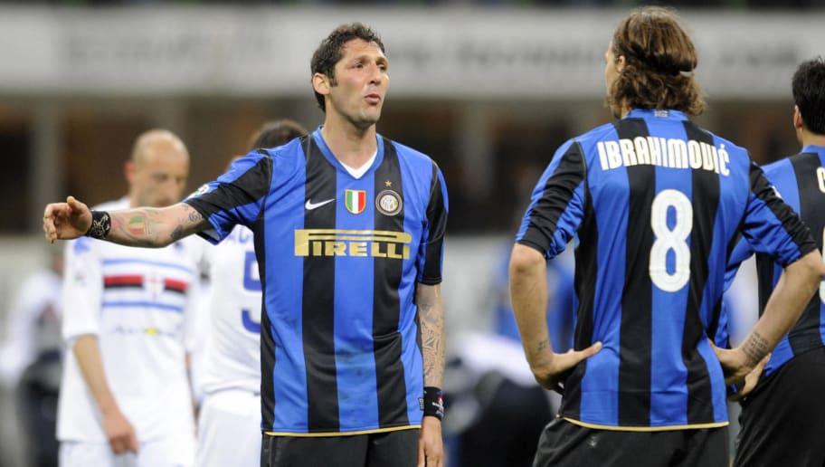 Inter Milan's defender Marco Materazzi (