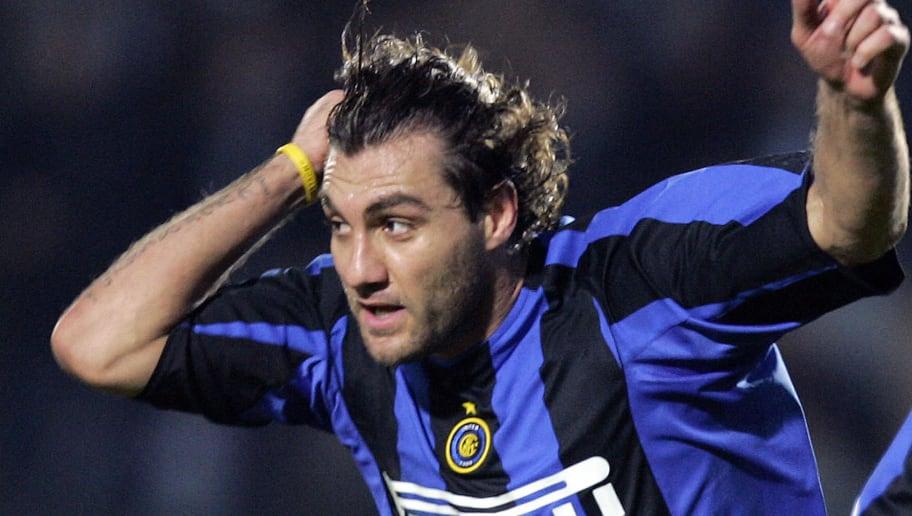 Inter Milan's striker Christian Vieri ce