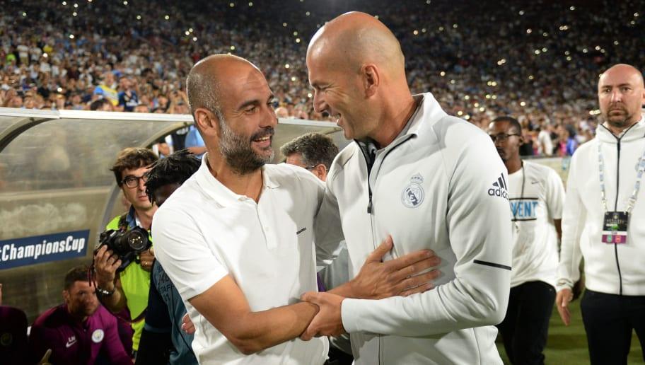 Pep Guardiola,Zinedine Zidane