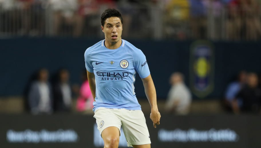 HOUSTON, TX - JULY 20: Samir Nasri of Manchester City during the International Champions Cup 2017 match between Manchester United and Manchester City at NRG Stadium on July 20, 2017 in Houston, Texas. (Photo by Matthew Ashton - AMA/Getty Images)