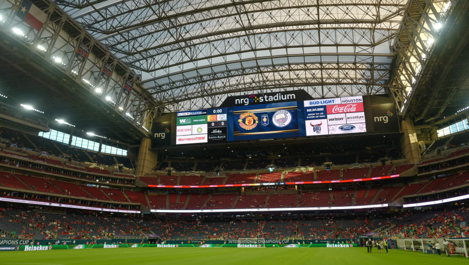 HOUSTON, TX - JULY 20: A general view of the NRG Stadium hosting the Manchester Derby prior to the International Champions Cup 2017 match between Manchester United and Manchester City at NRG Stadium on July 20, 2017 in Houston, Texas. (Photo by Matthew Ashton - AMA/Getty Images)