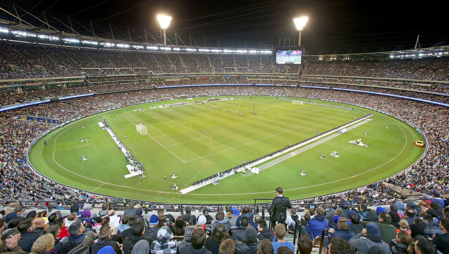 MELBOURNE, AUSTRALIA - JULY 24:  A general view of the crowd during the International Champions Cup match between Real Madrid and Manchester City at the Melbourne Cricket Ground on July 24, 2015 in Melbourne, Australia.  (Photo by Scott Barbour/Getty Images)