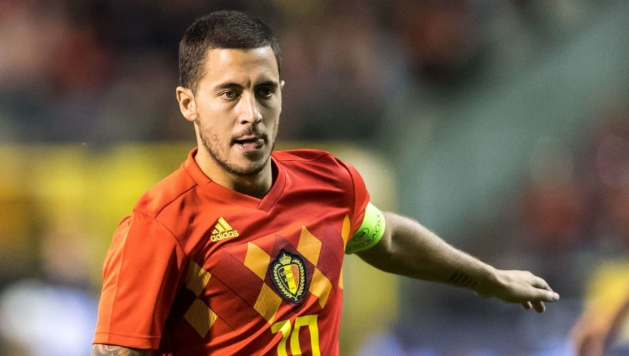 Eden Hazard of Belgium during the International friendly match between Belgium and The Netherlands at the King Baudouin Stadium on October 16, 2018  in Brussels, Belgium(Photo by VI Images via Getty Images)