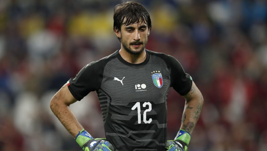 goalkeeper Mattia Perin of Italy during the International friendly match between Italy and The Netherlands at Allianz Stadium on June 04, 2018 in Turin, Italy(Photo by VI Images via Getty Images)