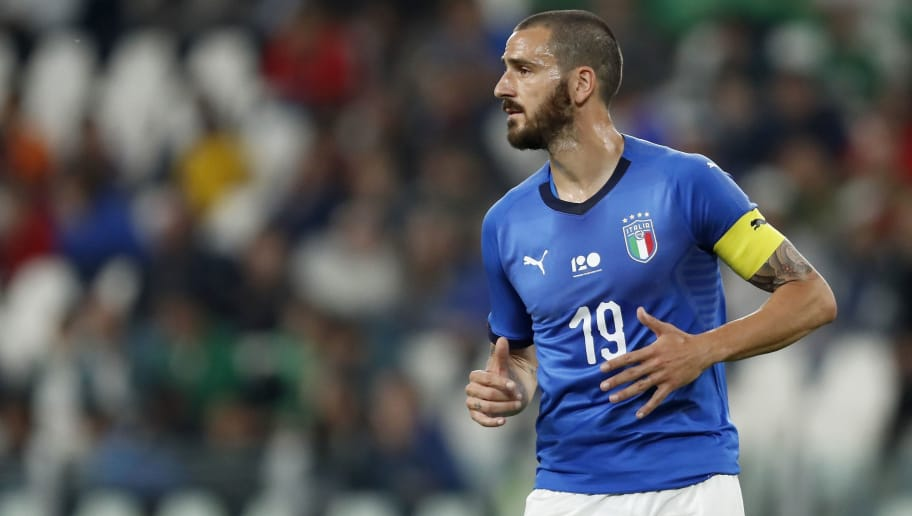 Leonardo Bonucci of Italy during the International friendly match between Italy and The Netherlands at Allianz Stadium on June 04, 2018 in Turin, Italy(Photo by VI Images via Getty Images)