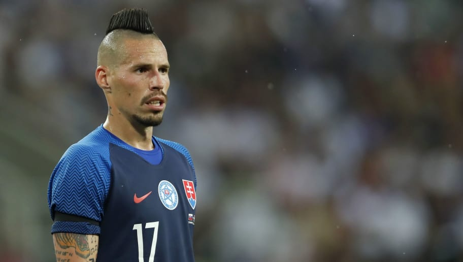 Marek Hamsik of Slovakia during  the International friendly match between Slovakia and The Netherlands at Stadium Antona Malatinskeho on May 31, 2018 in Trnava, Slovakia(Photo by VI Images via Getty Images)