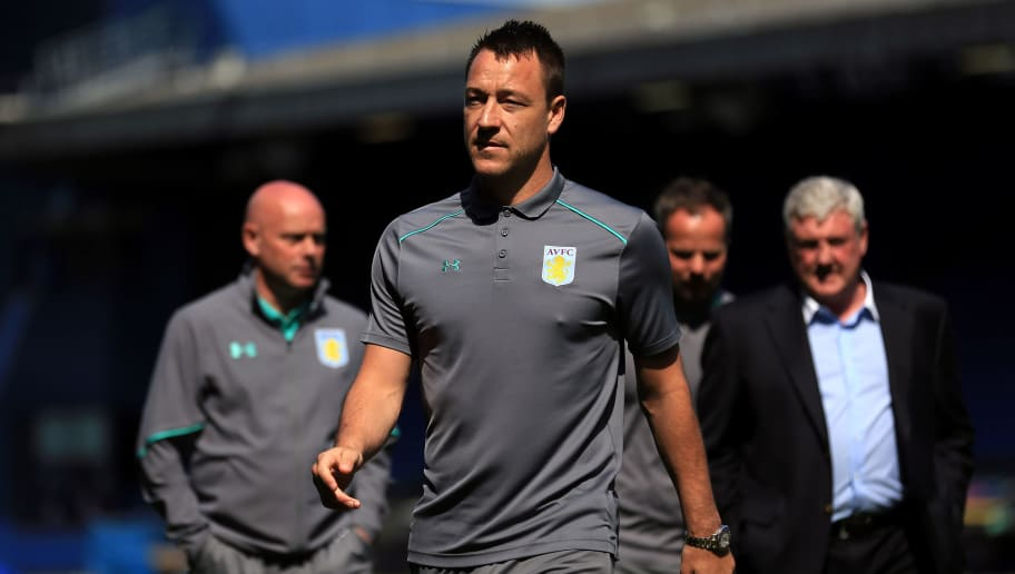 IPSWICH, ENGLAND - APRIL 21:  John Terry of Aston Villa walks across the pitch ahead of the Sky Bet Championship match between Ipswich Town and Aston Villa at Portman Road on April 21, 2018 in Ipswich, England. (Photo by Stephen Pond/Getty Images)