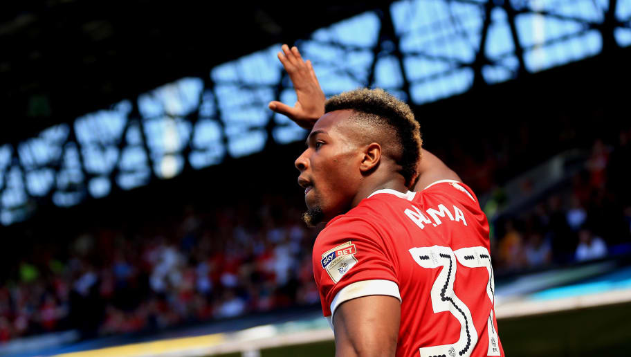 IPSWICH, ENGLAND - MAY 06:  Adama Traore of Middlesbrough during the Sky Bet Championship match between Ipswich Town and Middlesbrough at Portman Road on May 6, 2018 in Ipswich, England. (Photo by Stephen Pond/Getty Images)