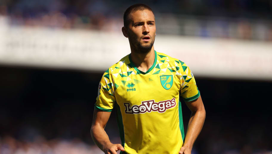 IPSWICH, ENGLAND - SEPTEMBER 02: Moritz Leitner of Norwich City during the Sky Bet Championship match between Ipswich Town and Norwich City  at Portman Road on September 2, 2018 in Ipswich, England. (Photo by Matthew Ashton - AMA/Getty Images)