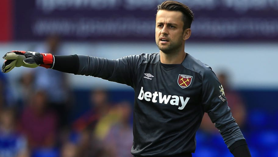 IPSWICH, ENGLAND - JULY 28:  Lukasz Fabianski of West Ham United during the pre-season friendly match between Ipswich Town and West Ham United at Portman Road on July 28, 2018 in Ipswich, England. (Photo by Stephen Pond/Getty Images)