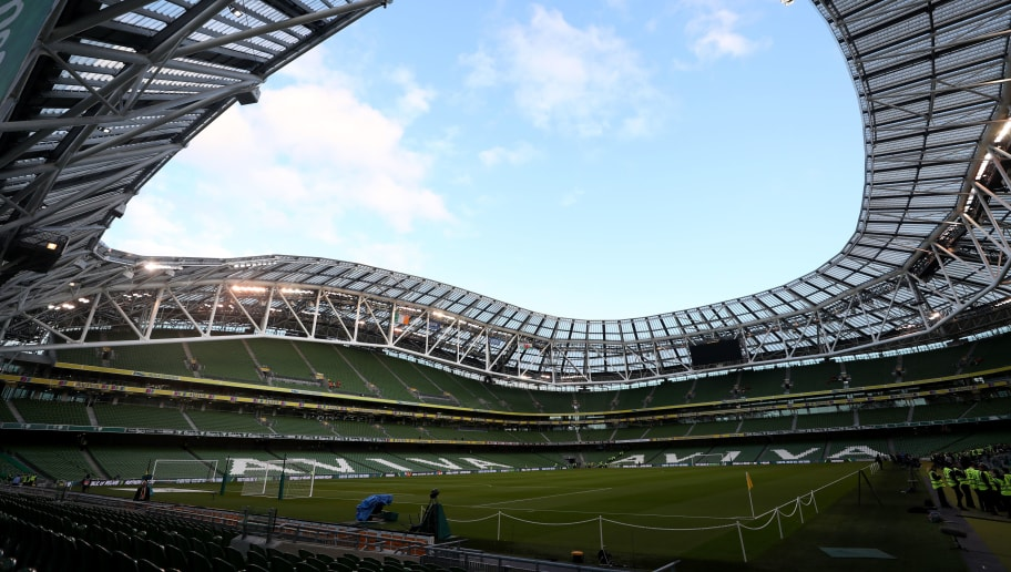 DUBLIN, IRELAND - OCTOBER 16: General view inside the stadium before the UEFA Nations League B group four match between Ireland and Wales at Aviva Stadium on October 16, 2018 in Dublin, Ireland. (Photo by Catherine Ivill/Getty Images)