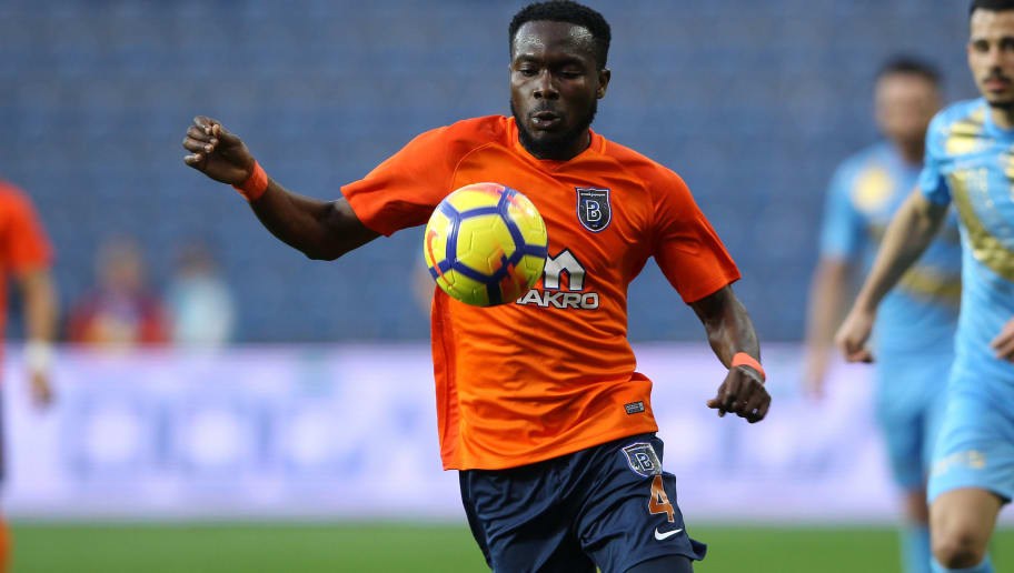 ISTANBUL, TURKEY - DECEMBER 3: Joseph Attamah of Istanbul Basaksehir during the Turkish Super lig  match between Istanbul Basaksehir v Osmanlispor at the Fatih Terimstadion on December 3, 2017 in Istanbul Turkey (Photo by Soccrates/Getty Images)