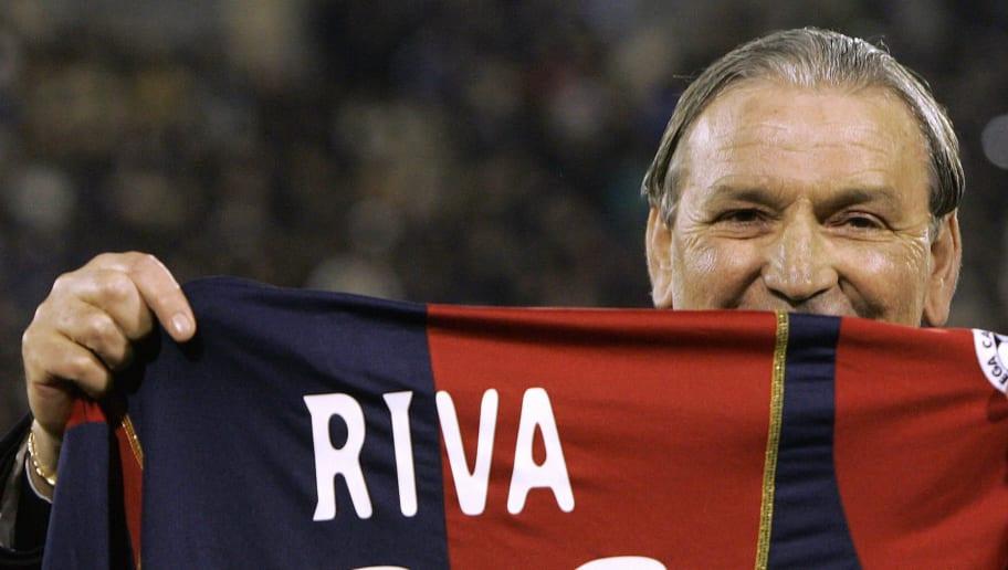 Italian football legend Gigi Riva shows