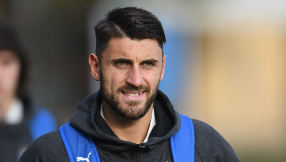 FLORENCE, ITALY - NOVEMBER 13:  Vincenzo Grifo of Italy looks on during a training session at Centro Tecnico Federale di Coverciano on November 13, 2018 in Florence, Italy.  (Photo by Claudio Villa/Getty Images)