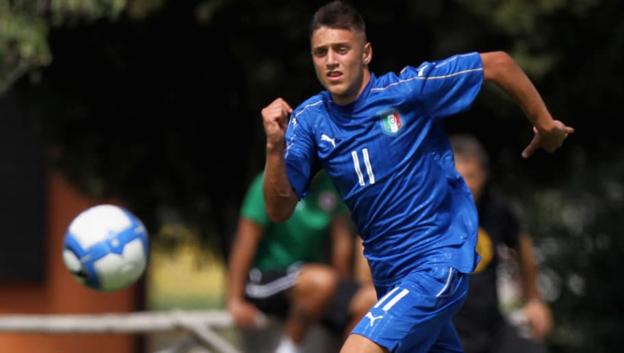 ROME, ITALY - AUGUST 31:  Ferdinando Del Sole of Italy U20 in action during the friendly match between Italy U20 and ASD Trastevere on August 31, 2017 in Rome, Italy.  (Photo by Paolo Bruno/Getty Images)