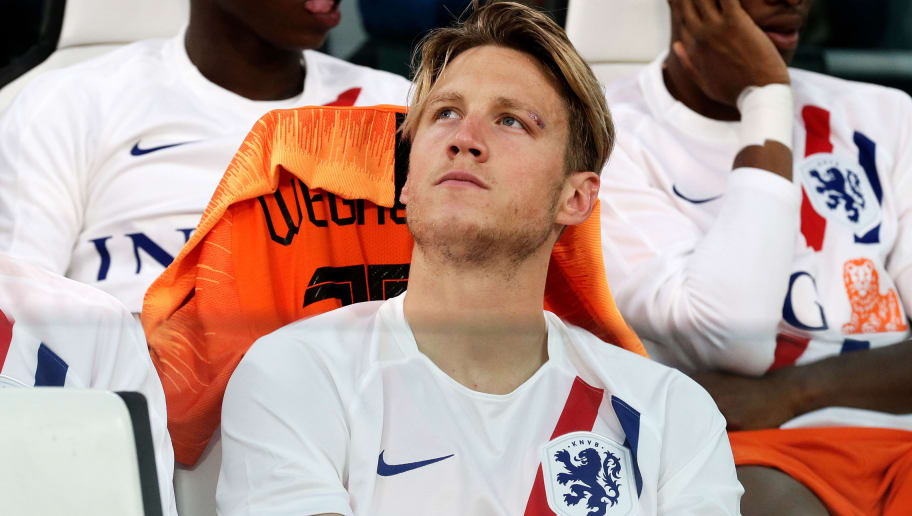 TURIN, ITALY - JUNE 4: Wout Weghorst of Holland  during the  International Friendly match between Italy  v Holland  at the Allianz Stadium on June 4, 2018 in Turin Italy (Photo by Eric Verhoeven/Soccrates/Getty Images)