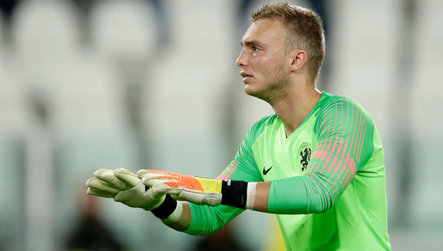 TURIN, ITALY - JUNE 4: Jasper Cillessen of Holland  during the  International Friendly match between Italy  v Holland  at the Allianz Stadium on June 4, 2018 in Turin Italy (Photo by Eric Verhoeven/Soccrates/Getty Images)