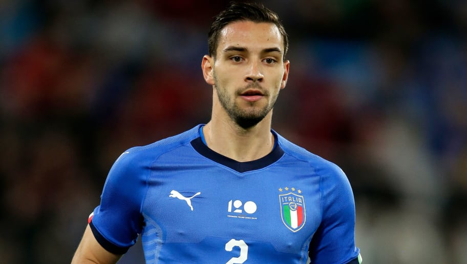 TURIN, ITALY - JUNE 4: Mattia de Sciglio of Italy  during the  International Friendly match between Italy  v Holland  at the Allianz Stadium on June 4, 2018 in Turin Italy (Photo by Eric Verhoeven/Soccrates/Getty Images)