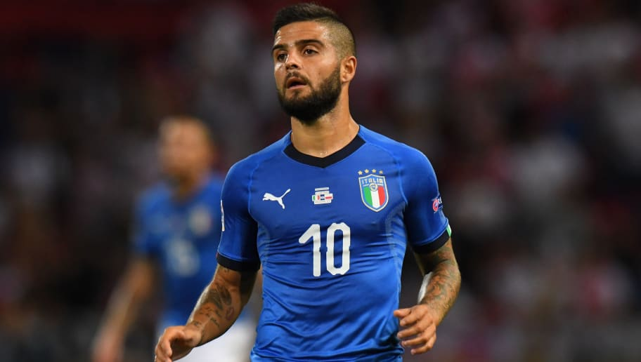 BOLOGNA, ITALY - SEPTEMBER 07:  Lorenzo Insigne of Italy looks on during the UEFA Nations League A group three match between Italy and Poland at Stadio Renato Dall'Ara on September 7, 2018 in Bologna, Italy.  (Photo by Alessandro Sabattini/Getty Images)