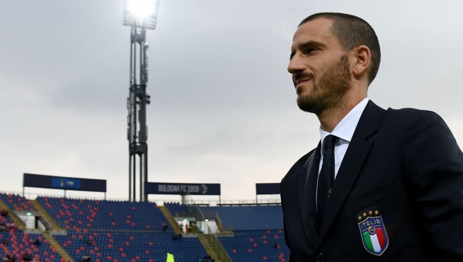 BOLOGNA, ITALY - SEPTEMBER 07:  Leonardo Bonucci of Italy looks on prior to the UEFA Nations League A group three match between Italy and Poland at Stadio Renato Dall'Ara on September 7, 2018 in Bologna, Italy.  (Photo by Claudio Villa/Getty Images)