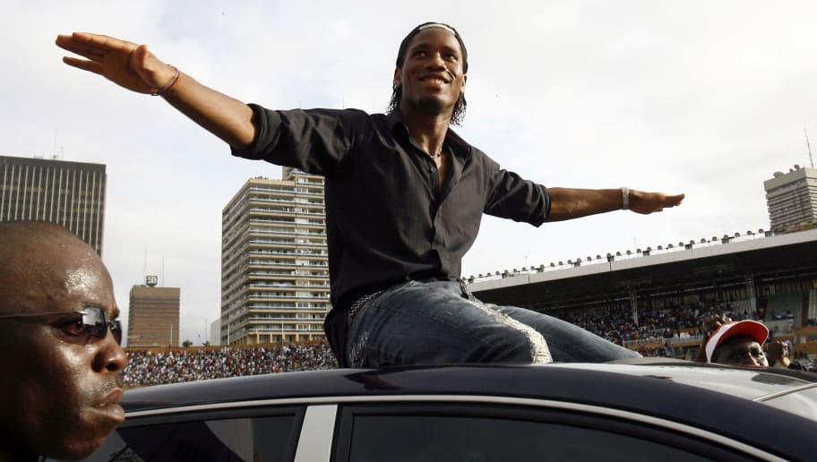 Ivorian football star Didier Drogba, doe