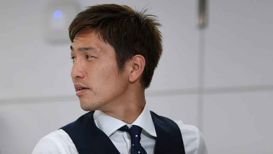 NARITA, JAPAN - JULY 05: Genki Haraguchi  is seen on arrival at Narita International Airport on July 5, 2018 in Narita, Narita, Japan.  (Photo by Takashi Aoyama/Getty Images)