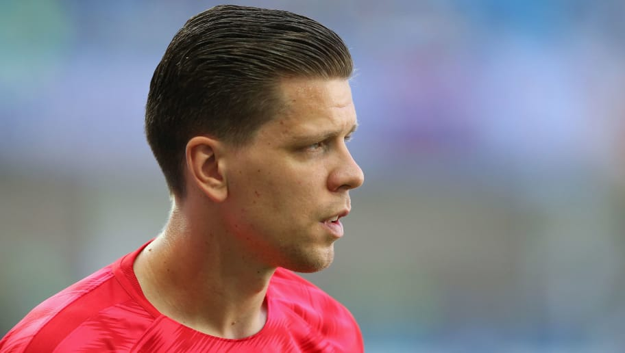 VOLGOGRAD, RUSSIA - JUNE 28:  Wojciech Szczesny of Poland looks prior to the 2018 FIFA World Cup Russia group H match between Japan and Poland at Volgograd Arena on June 28, 2018 in Volgograd, Russia.  (Photo by Alex Livesey/Getty Images)