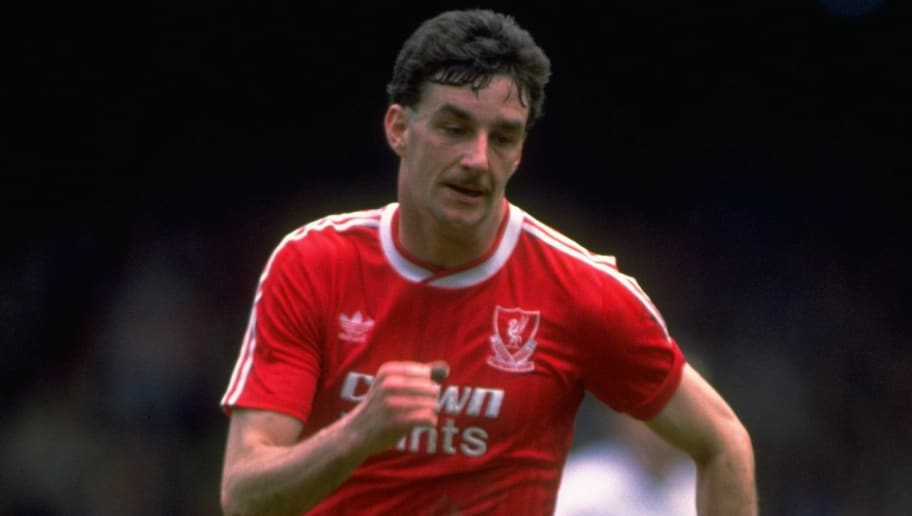 1987:  John Aldridge of Liverpool in action during a Barclays League Division One match against Southampton at Anfield in Liverpool, England. The match ended in a 1-1 draw.  \ Mandatory Credit: Simon  Bruty/Allsport