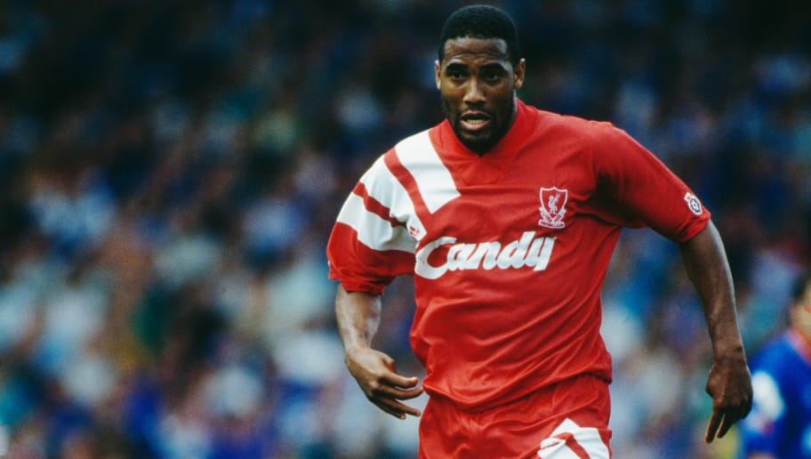 Jamaican-born, British footballer John Barnes in action for Liverpool, 1991. (Photo by Dan Smith/Getty Images)