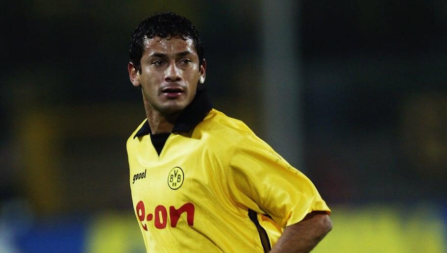 Juan Ramon Fernandez of Borussia Dortmund in action