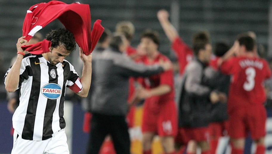 Juventus captain Alex Del Piero walks aw
