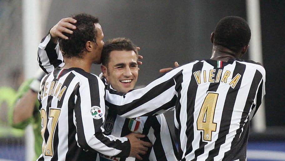 Juventus' defender Fabio Cannavaro (C) i