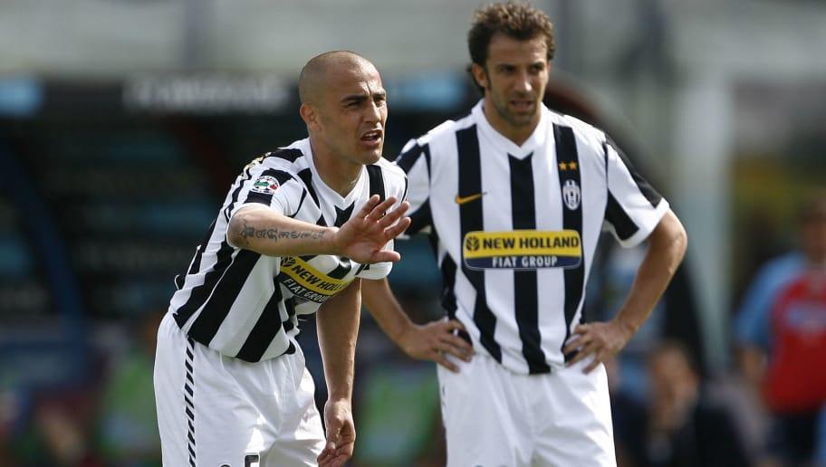 Juventus defender Fabio Cannavaro (L) an