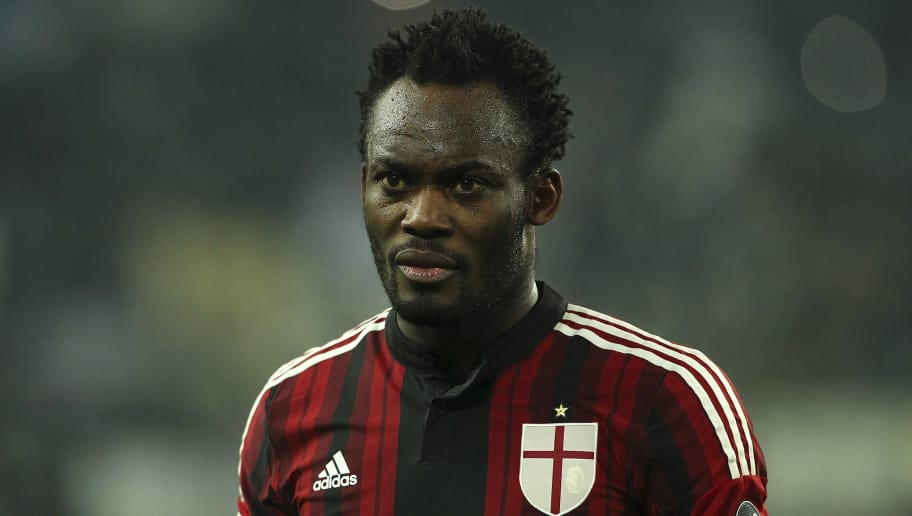 TURIN, ITALY - FEBRUARY 07:  Michael Essien of AC Milan looks on during the Serie A match between Juventus FC and AC Milan at Juventus Arena on February 7, 2015 in Turin, Italy.  (Photo by Marco Luzzani/Getty Images)