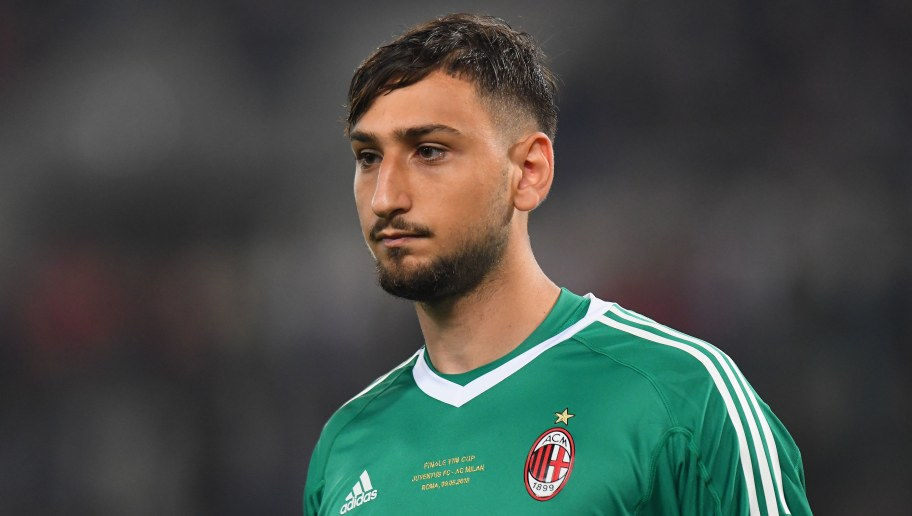 ROME, ITALY - MAY 09:  Gianluigi Donnarumma of AC Milan looks on during the TIM Cup  Final between Juventus and AC Milan at Stadio Olimpico on May 9, 2018 in Rome, Italy.  (Photo by Alessandro Sabattini/Getty Images)