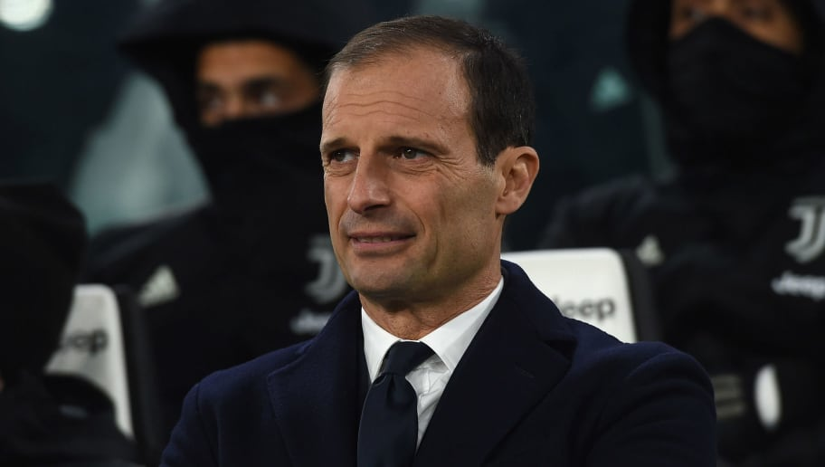 TURIN, ITALY - DECEMBER 22:  Head coach Massimiliano Allegri of Juventus looks on during the Serie A match between Juventus and AS Roma on December 22, 2018 in Turin, Italy.  (Photo by Tullio M. Puglia/Getty Images)