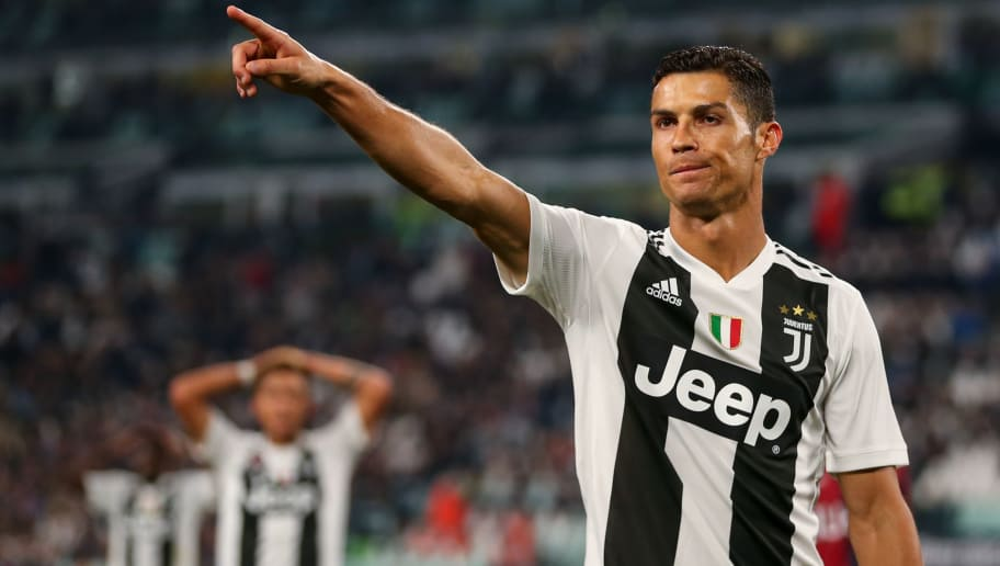 TURIN, ITALY - SEPTEMBER 26: Cristiano Ronaldo of Juventus during the Serie A match between Juventus and Bologna FC at Allianz Stadium on September 26, 2018 in Turin, Italy. (Photo by Robbie Jay Barratt - AMA/Getty Images)