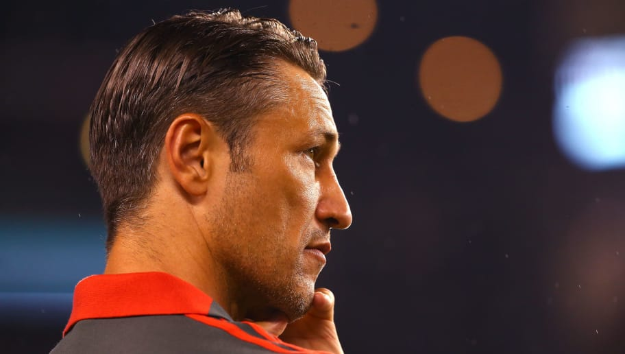 PHILADELPHIA, PA - JULY 25: Head coach Niko Kovac of Bayern Munich looks on in the second half against Juventus during the International Champions Cup 2018 at Lincoln Financial Field on July 25, 2018 in Philadelphia, Pennsylvania.  (Photo by Mitchell Leff/International Champions Cup/Getty Images)