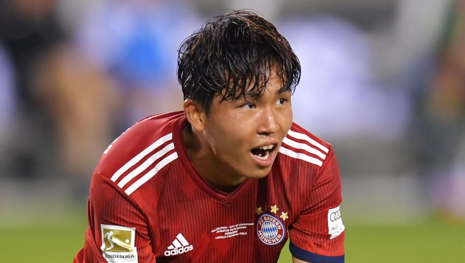 PHILADELPHIA, PA - JULY 25: Jeong Woo-Yeong #30 of Bayern Munich reacts to a missed shot during the International Champions Cup 2018 match between Juventus and FC Bayern Munich at Lincoln Financial Field on July 25, 2018 in Philadelphia, Pennsylvania. (Photo by Drew Hallowell/Getty Images)