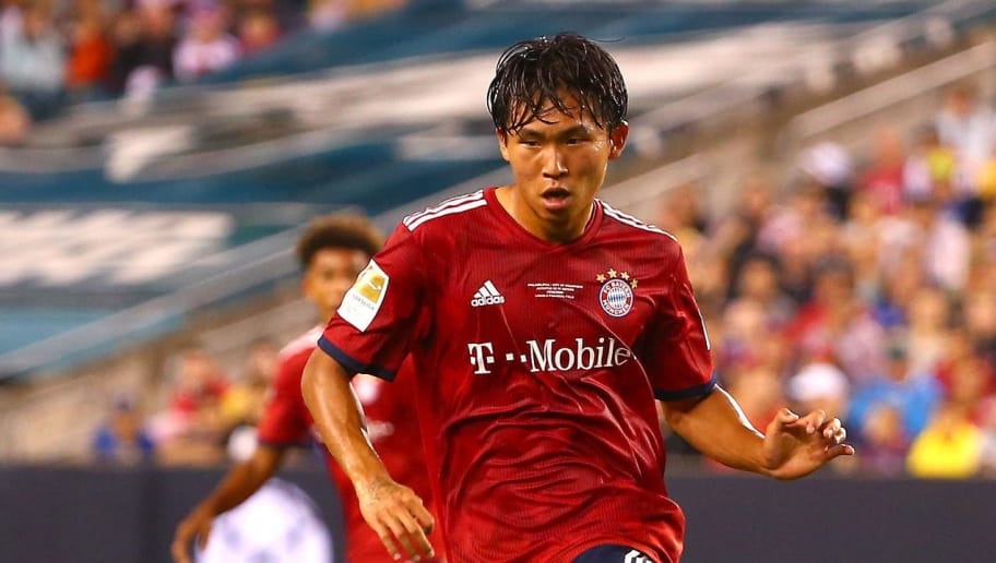 PHILADELPHIA, PA - JULY 25: Jeong Woo-Yeong #30 of Bayern Munich controls the ball in the second half against Juventus during the International Champions Cup 2018 at Lincoln Financial Field on July 25, 2018 in Philadelphia, Pennsylvania.  (Photo by Mitchell Leff/International Champions Cup/Getty Images)