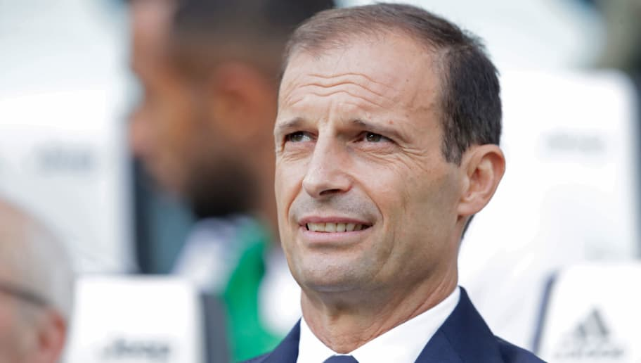 TURIN, ITALY - AUGUST 25: Coach Massimiliano Allegri of Juventus during the Italian Serie A   match between Juventus v Lazio at the Allianz Stadium on August 25, 2018 in Turin Italy (Photo by Laurens Lindhout/Soccrates/Getty Images)