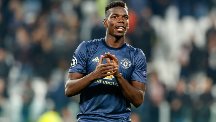 TURIN, ITALY - NOVEMBER 07: Paul Pogba of Manchester United gestures during the Group H match of the UEFA Champions League between Juventus and Manchester United at  on November 7, 2018 in Turin, Italy. (Photo by TF-Images/Getty Images)