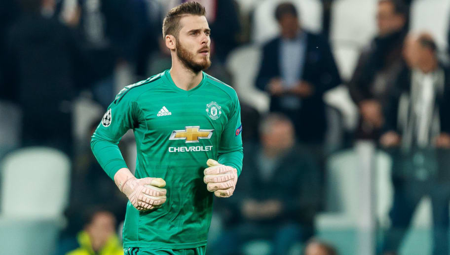 TURIN, ITALY - NOVEMBER 07: goalkeeper David de Gea of Manchester United looks on during the Group H match of the UEFA Champions League between Juventus and Manchester United at  on November 7, 2018 in Turin, Italy. (Photo by TF-Images/Getty Images)