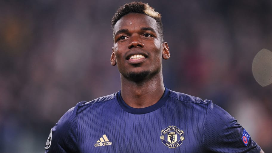 TURIN, ITALY - NOVEMBER 07: Paul Pogba of Manchester United looks on during the Group H match of the UEFA Champions League between Juventus and Manchester United at  on November 7, 2018 in Turin, Italy. (Photo by Norbert Barczyk/PressFocus/MB Media/Getty Images)