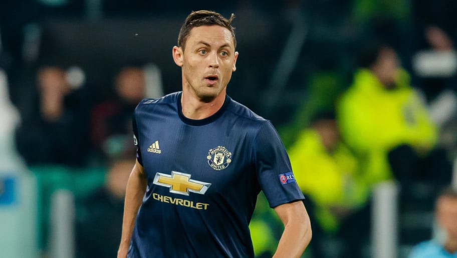 TURIN, ITALY - NOVEMBER 07: Nemanja Matic of Manchester United controls the ball during the Group H match of the UEFA Champions League between Juventus and Manchester United at  on November 7, 2018 in Turin, Italy. (Photo by TF-Images/Getty Images)