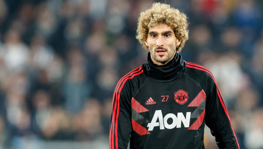 TURIN, ITALY - NOVEMBER 07: Marouane Fellaini of Manchester United looks on during the Group H match of the UEFA Champions League between Juventus and Manchester United at  on November 7, 2018 in Turin, Italy. (Photo by TF-Images/Getty Images)
