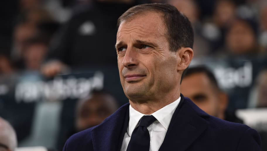 TURIN, ITALY - NOVEMBER 24: Head coach of Juventus Massimiliano Allegri look on during the Serie A match between Juventus and SPAL at Allianz Stadium on November 24, 2018 in Turin, Italy. (Photo by Tullio M. Puglia/Getty Images)
